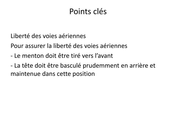 Points clés