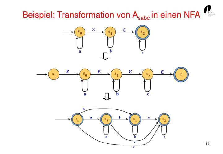 Beispiel: Transformation von