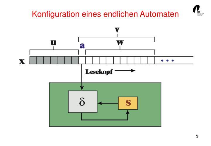 Konfiguration eines endlichen Automaten