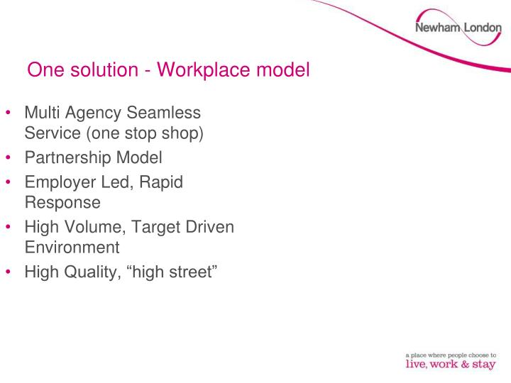 One solution - Workplace model