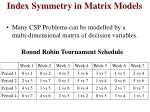 index symmetry in matrix models