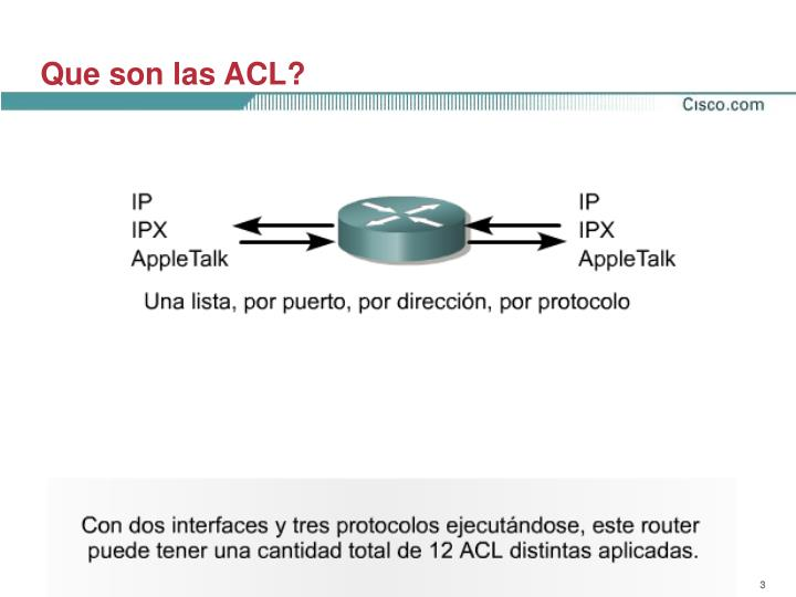 Que son las ACL?