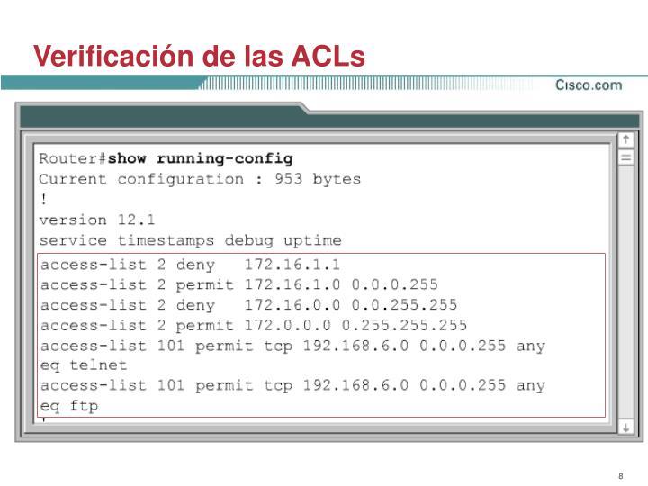 Verificación de las ACLs