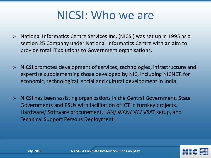 Nicsi who we are