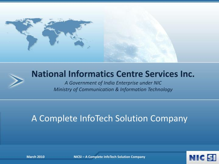 National Informatics Centre Services Inc.