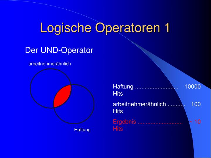 Logische Operatoren 1