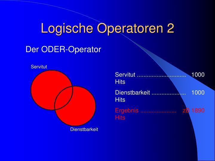Logische Operatoren 2