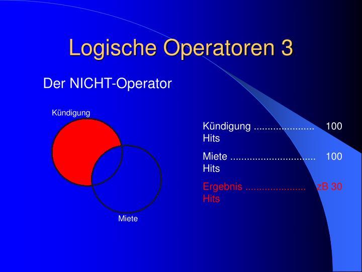 Logische Operatoren 3