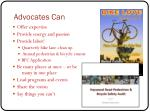 advocates can