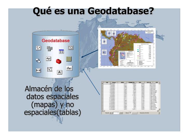 Qué es una Geodatabase?