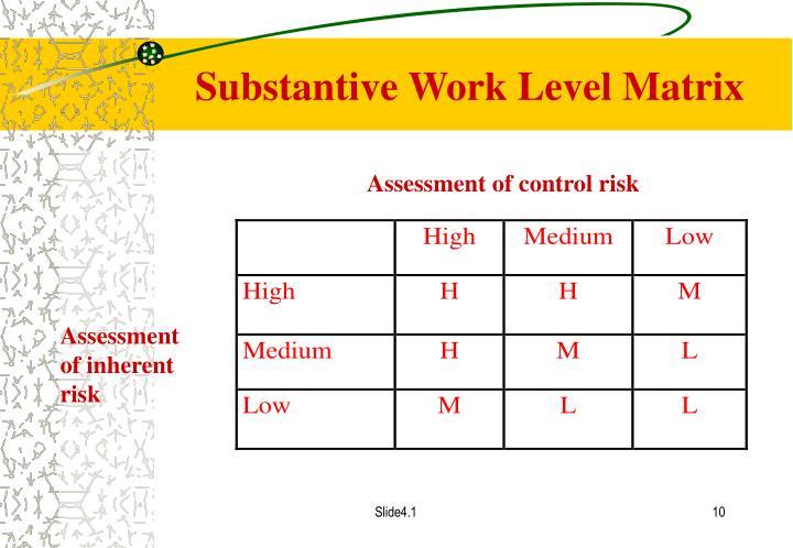 Substantive Work Level Matrix