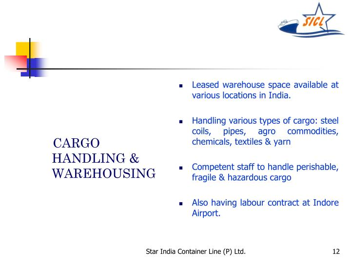 CARGO HANDLING & WAREHOUSING