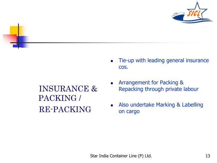 INSURANCE & PACKING /