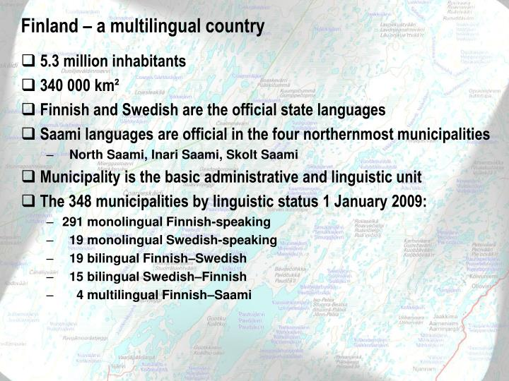Finland – a multilingual country