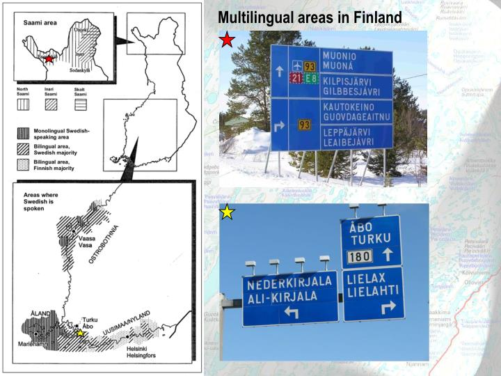 Multilingual areas in Finland