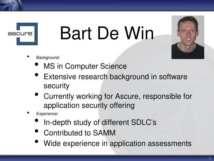 Bart De Win