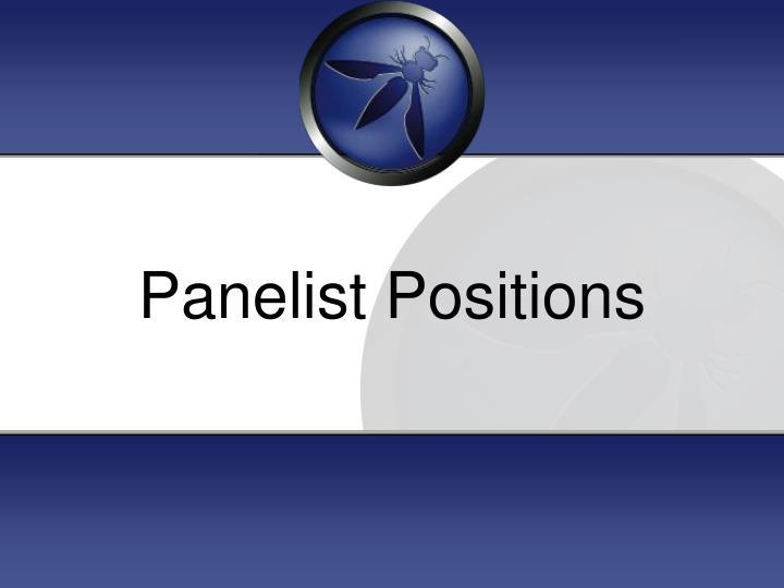 Panelist Positions