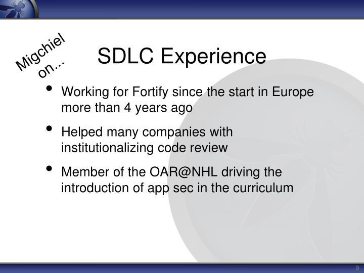 SDLC Experience