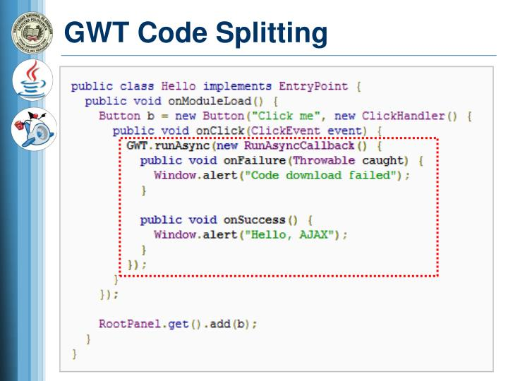 GWT Code Splitting