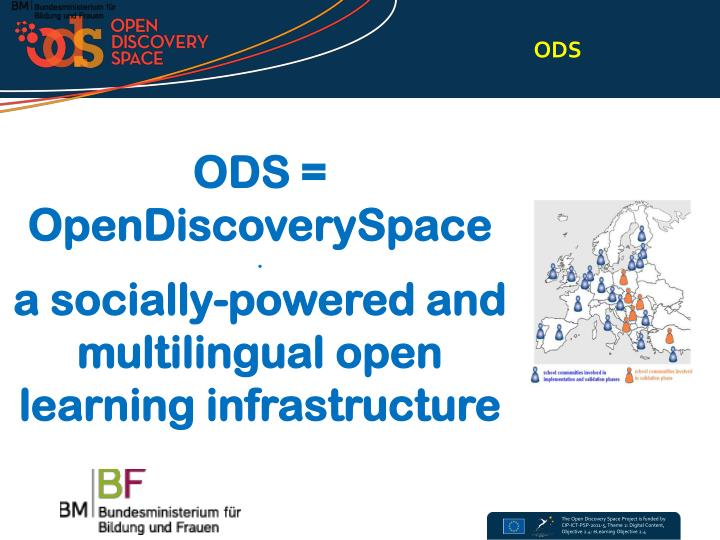 Ods opendiscoveryspace a socially powered and multilingual open learning infrastructure