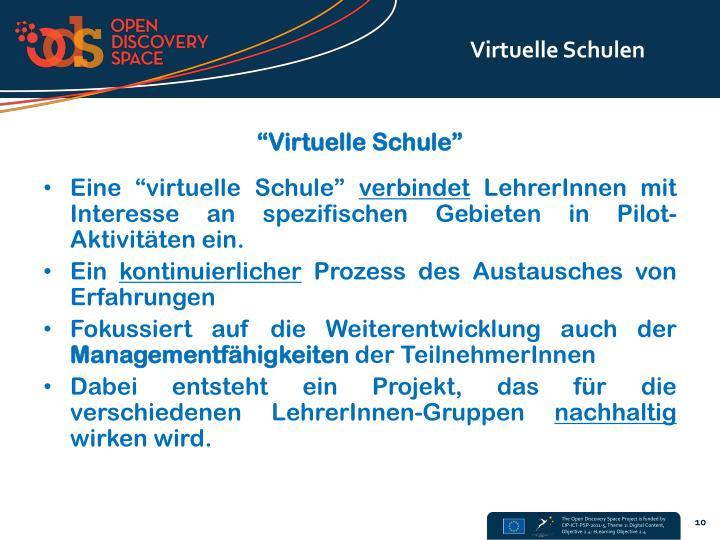 Virtuelle Schulen