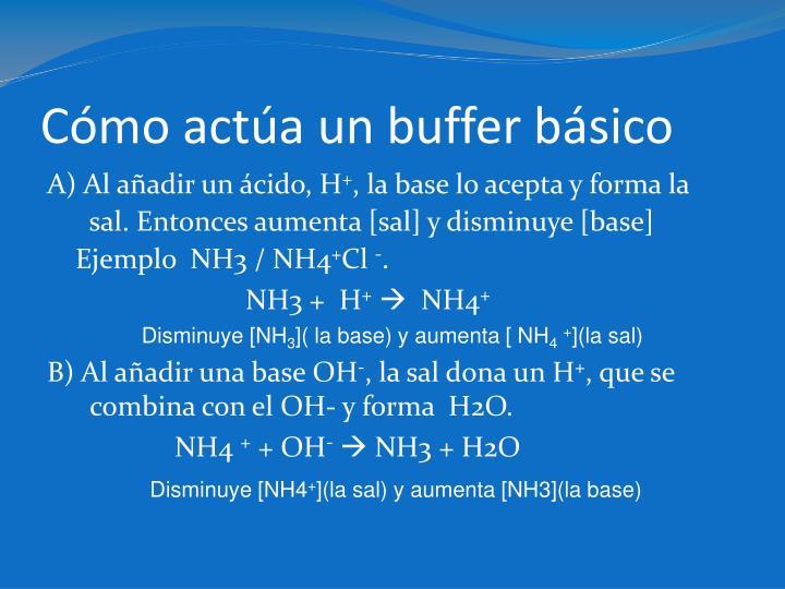 Cómo actúa un buffer básico