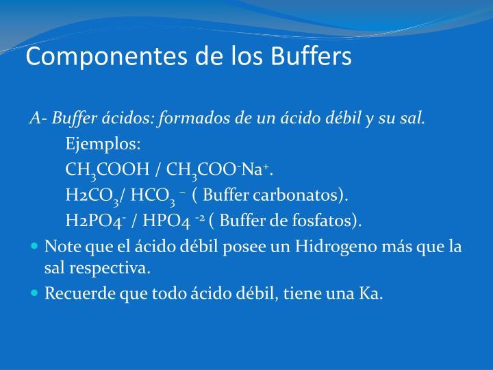 Componentes de los Buffers