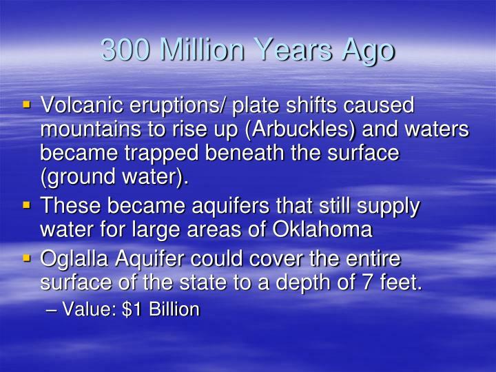 300 Million Years Ago