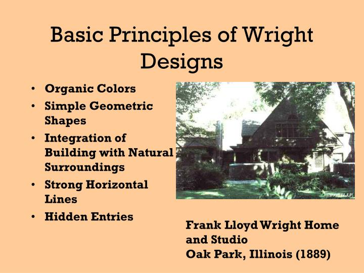 Basic Principles of Wright Designs