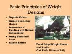 basic principles of wright designs
