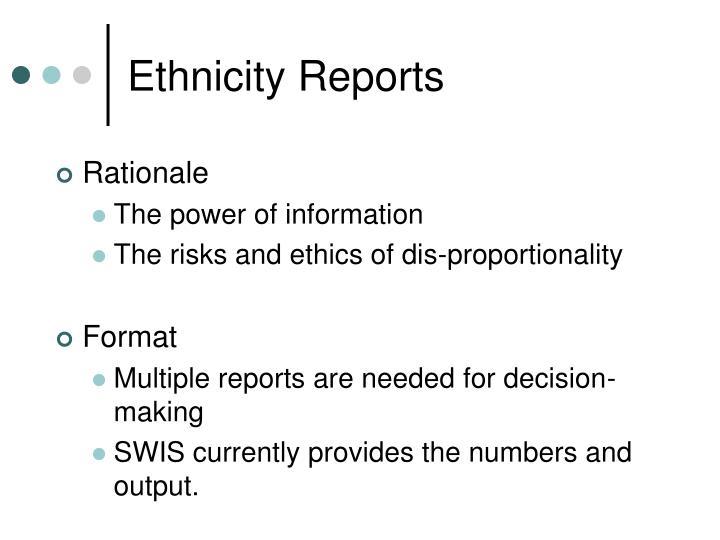 Ethnicity Reports