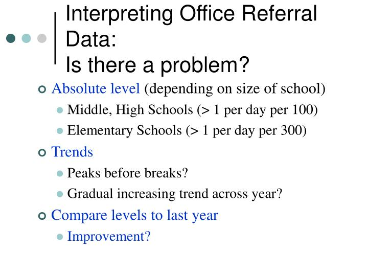 Interpreting Office Referral Data: