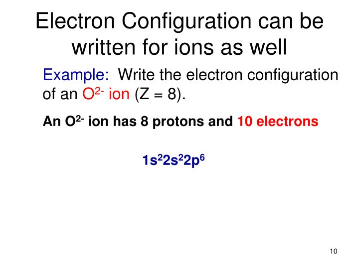 how to write electron configurations of elements in subshell notation