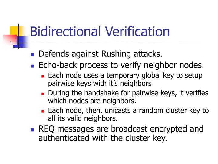 Bidirectional Verification