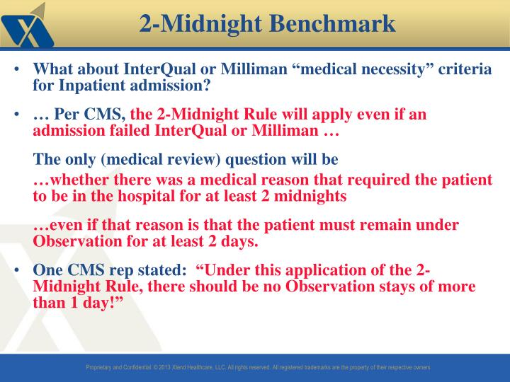 "What about InterQual or Milliman ""medical necessity"" criteria for Inpatient admission?"