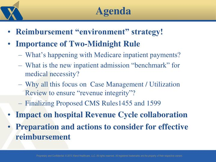 "Reimbursement ""environment"" strategy!"
