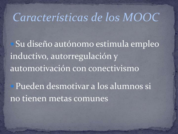 Características de los MOOC