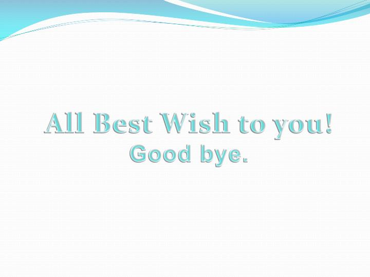 All Best Wish to you!