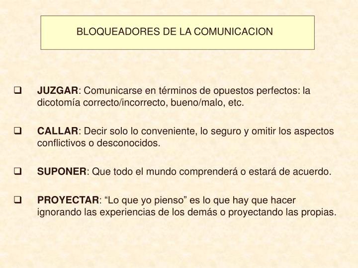 BLOQUEADORES DE LA COMUNICACION