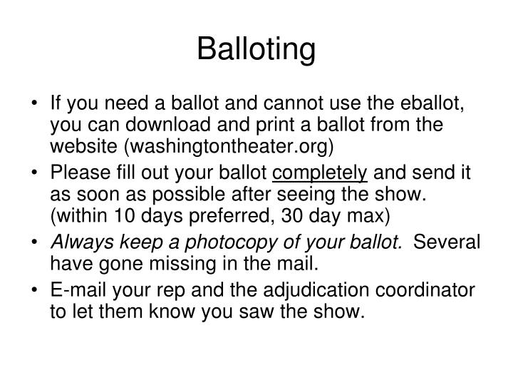Balloting