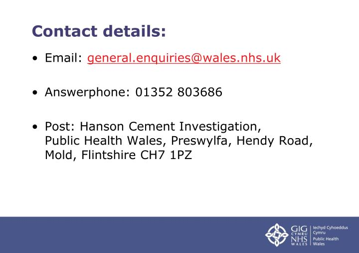 Contact details: