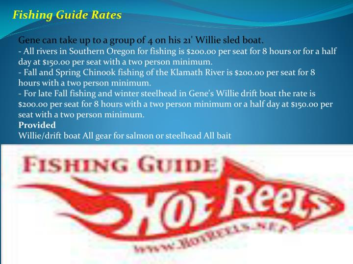 Fishing Guide Rates