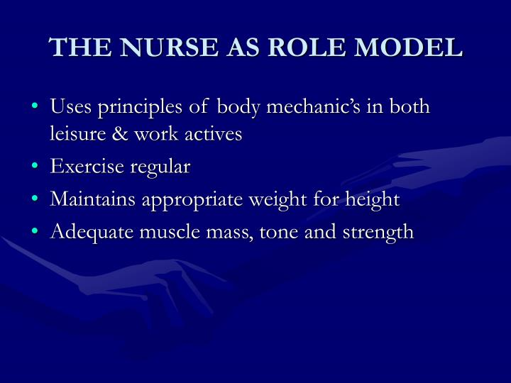 THE NURSE AS ROLE MODEL