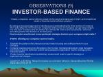 observations 9 investor based finance