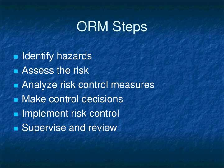 ORM Steps