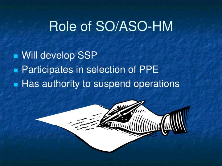 Role of SO/ASO-HM