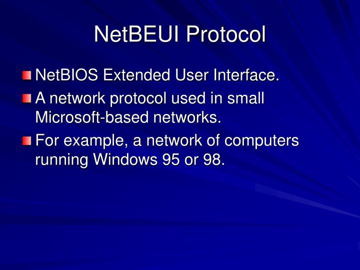 NetBEUI Protocol