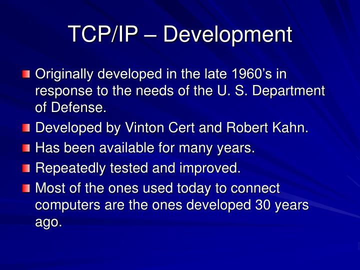 TCP/IP – Development