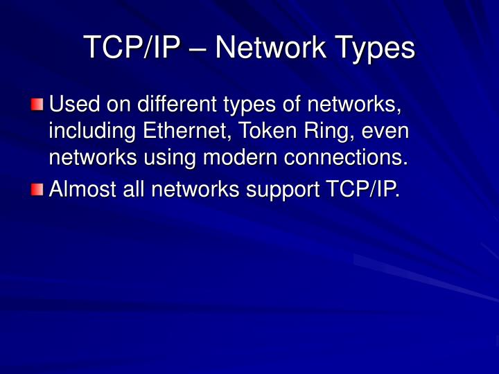 TCP/IP – Network Types