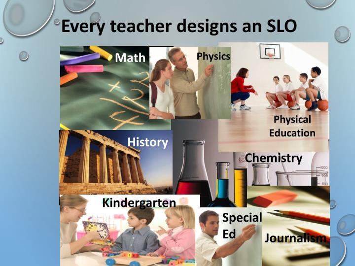 Every teacher designs an SLO
